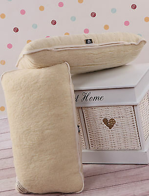 TWO 100% Merino Wool Pillows Size 45x75cm zipped cover perfect gift PAIR PILLOW