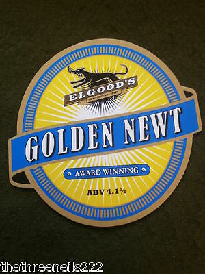 Beer Pump Clip - Elgoods Golden Newt