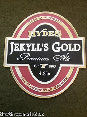 Beer Pump Clip - Hydes Jekyll's Gold