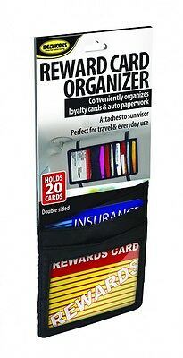 Loyalty Reward Card Organizer Insurance Sun Visor Car Auto Purse Holds 20 Cards