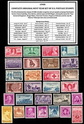 1948 Complete Year Set Of Mint -Mnh- Vintage U.s. Postage Stamps