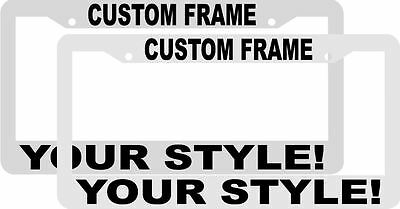 lot of 2 custom personalized whiteblack letters customized license plate frame