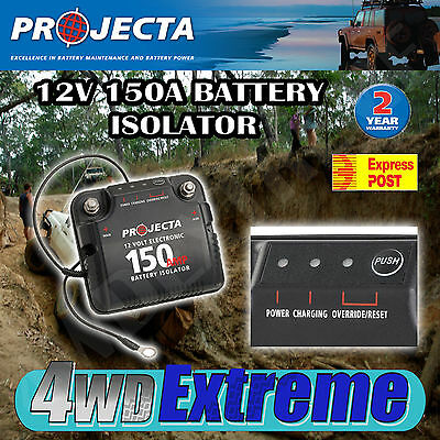Projecta Dbc150 12V 150A Dual Battery System Isolator Deep Cycle Agm, Auxillary