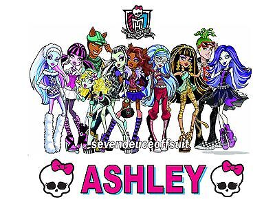 Personalized Monster High T Shirt Present Gift Party Favor Tee
