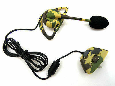 New Wired camouflage Army Headset Mic Earpiece Earphone Controller for XBOX 360