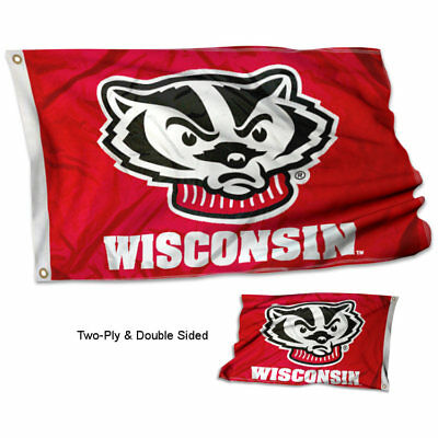 Wisconsin Rose Bowl Bound Flag and Banner
