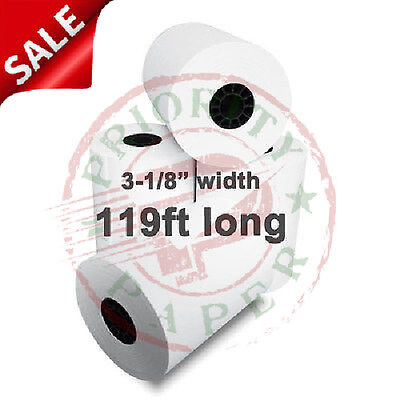 "44mm (1-3/4"") x 220' THERMAL CASH REGISTER PAPER - 150 NEW ROLLS  *FREE SHIPPING"