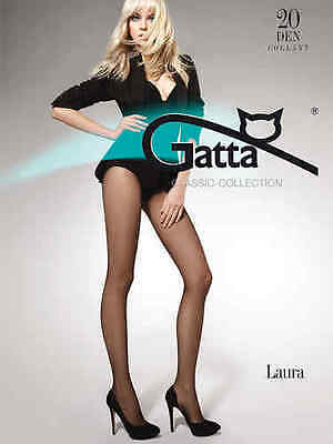 GATTA LAURA CLASSIC COLLECTION TIGHTS 20 denier,clear , 8 colours , size S-XL