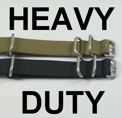 NATO HEAVY DUTY VERSION military watch strap satin mens G10 nylon divers army