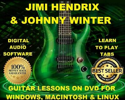 Jimi Hendrix 422 & Johnny Winter 54 Guitar Tabs Software Lesson CD & 68 BTs