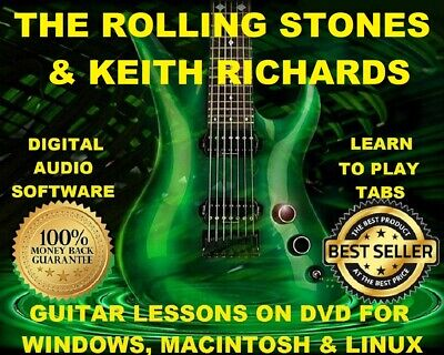 THE ROLLING STONES 411 Guitar Tabs Software Lesson CD, 95 Backing ...