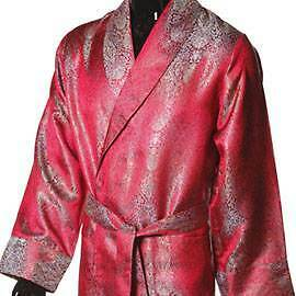 Mens Lightweight Viscose Dressing Gown - Red
