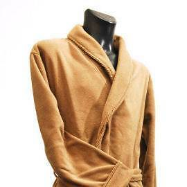 Men's Fleece Dressing Gown - Camel