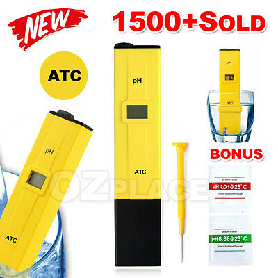 Digital Ph Meter Hydroponics Pool Spa Aquarium Liquid Measure Tester Pocket Pen