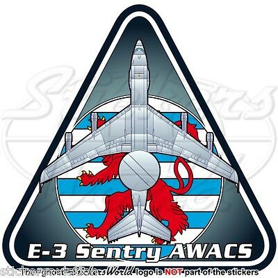 Boeing E-3 Sentry NATO E-3A AWACS AEW&C Luxembourg AirForce OTAN Sticker, Decal