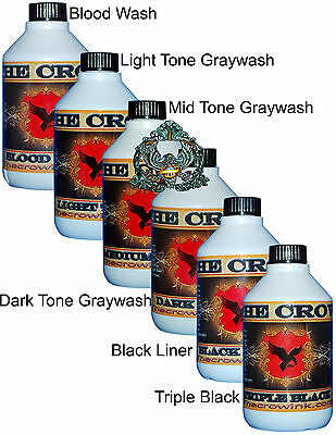 The Crow Tattoo Ink Set of 6 Bottles (300ml)