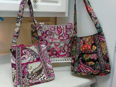 VERA BRADLEY HIPSTER SYMPHONY IN HUE,VERY BERRY PAISLEY, PAISLEY MEETS PLAID NEW