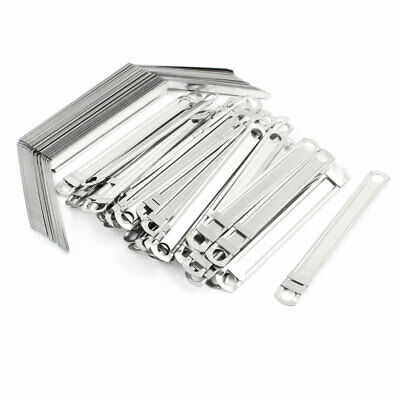 """40 Sets 3.1"""" Hole Distance 2"""" Sheet Capacity Metal Paper File Fasteners Clips"""
