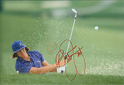 Rickie FOWLER SIGNED Autograph 12x8 Photo AFTAL COA RYDER Cup Player
