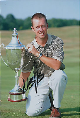 Mark FOSTER SIGNED Autograph 12x8 Photo AFTAL COA 2011 Johnnie Walker Champion