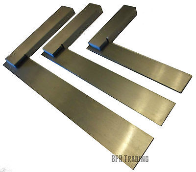 "4"" (100mm) OR 6"" (150mm) OR 8"" (200mm) ENGINEERS  POLISHED STEEL SET SQUARE"