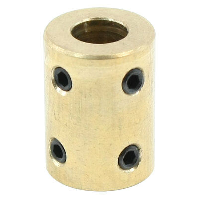 8mm Shaft Rigid Motor Wheel Coupling Coupler Copper Casing w Tight Screws