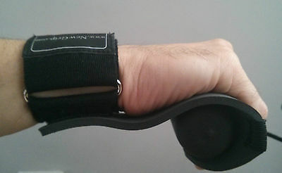 Newgrip padded open backed rowing gloves grips with detachable wrist strap
