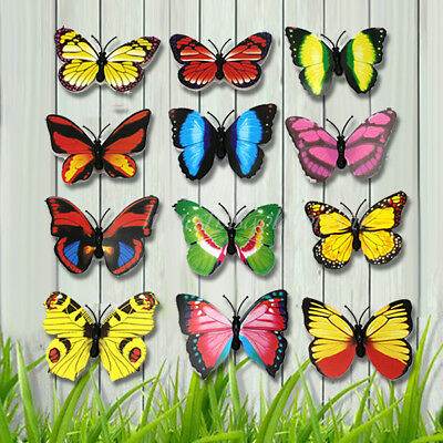 Hot Charm 12Pcs Artificial Butterfly 3D Magnet Home Room Wall refrigerator Decor