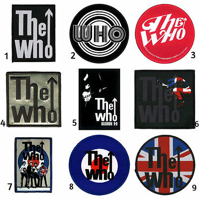 The Who Sew/iron On Patch/Patches NEW OFFICIAL. Choice of 9 designs.
