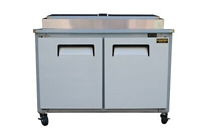 "48"" New!! US-MadeTwo (2) Door Refrigerated Pizza Salad Prep Table Restaurant"