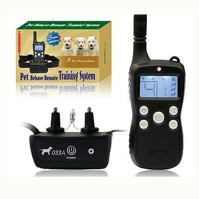 New Remote control dog training pet collar 5M waterproof 300M LCD Rechargeable