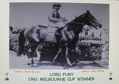 LORD FURY 1961 Melbourne Cup Print