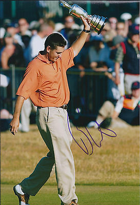 Ben CURTIS SIGNED Autograph 12x8 Photo AFTAL COA Open CHAMPION Golf Winner