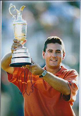 Ben CURTIS SIGNED Autograph 12x8 Photo AFTAL COA 2003 Open CHAMPION Golf
