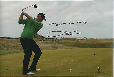 Thomas BJORN SIGNED Autograph 12x8 Photo AFTAL COA Dunhill Links St Andrews GOLF