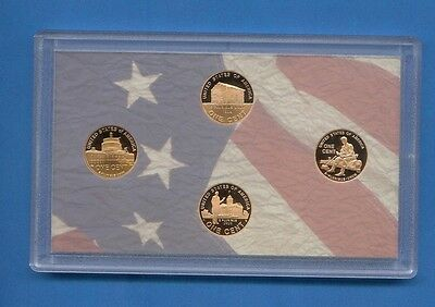 2009 S Lincoln Cent Penny Four Coin Proof Set DCAM-NO Toning