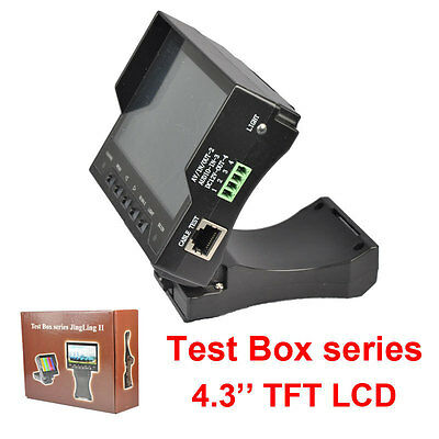 """CCTV 4.3"""" LCD Monitor Video/Audio/UTP Test Tester DC 12V Output Security Camera"""