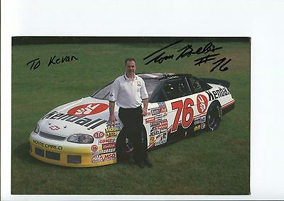 Tom Bolles NASCAR Nationwide Driver Racing Signed Autograph Photo