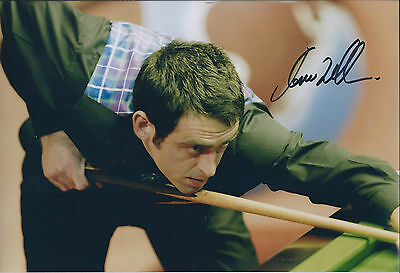 Ronnie O'SULLIVAN SIGNED 12x8 Photo Autograph COA AFTAL Snooker Premier League