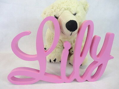 15or 20cm personalised UNPAINTED WOODEN LETTER name,word baby/kids freestanding