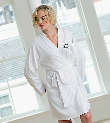 Ladies Cotton Jersey Dressing Gown Robe for Hen Nights, Wedding & Bridal Party