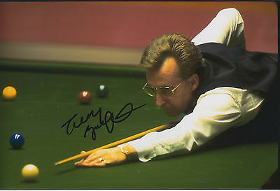 Terry GRIFFITHS SIGNED Autograph 12x8 Photo AFTAL COA 1980 Masters WINNER