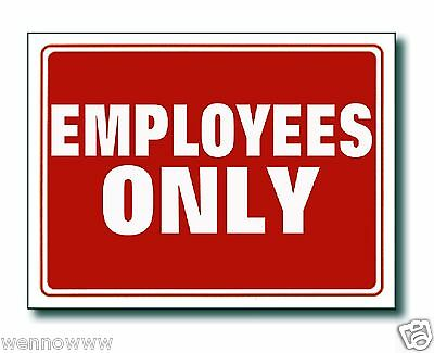 "2 Pcs 9 x 12 Inch Red & White Flexible Plastic "" Employees ONLY"" Sign"