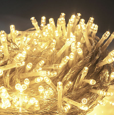 500 LED 100M Warm White Fairy String Lights Lighting Christmas Xmas Party