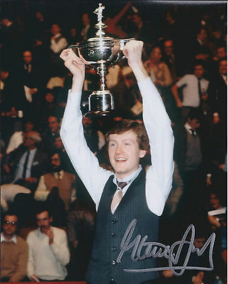 Steve DAVIS AUTOGRAPH 10x8 Signed Photo AFTAL COA SNOOKER World Champion