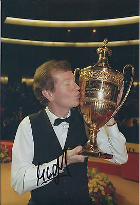 Steve DAVIS AUTOGRAPH 12x8 Signed Photo AFTAL COA SNOOKER Crucible Winner RARE