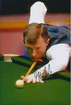 Steve DAVIS AUTOGRAPH 12x8 Signed Photo AFTAL COA SNOOKER UK Championship WINNER