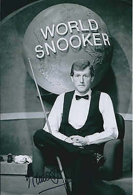 Steve DAVIS AUTOGRAPH 12x8 Signed Photo AFTAL COA WORLD SNOOKER Crucible Winner