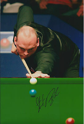 Stuart BINGHAM AUTOGRAPH 12x8 Signed Photo AFTAL COA SNOOKER Tour Winner
