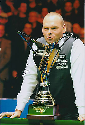Stuart BINGHAM AUTOGRAPH 12x8 Signed Photo AFTAL COA SNOOKER Goldfields Winner